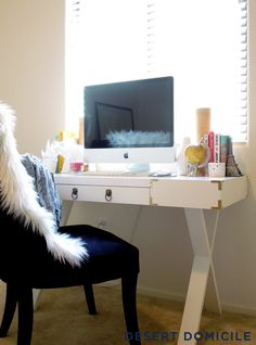 DIY Campaign Style Desk – Get the look of a campaign desk for less!