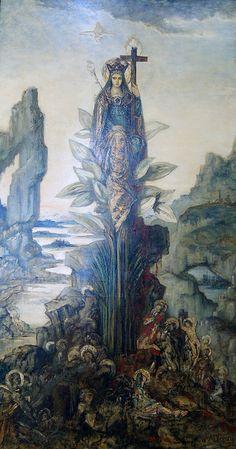 Gustave Moreau, Fleur mystique 1890, Huile sur toile, 253 x 137 cm, Musée Gustave Moreau, Paris