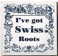 Swiss Culture Magnet Tile Swiss Roots