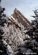 Flatirons of Boulder, Colorado in the Winter