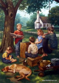 Artist Charles Freitag Unframed Children's Print The Bible Tells Me So | WildlifePrints.com