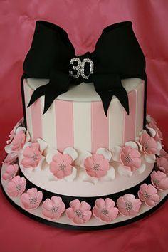 Pretty In Pink birthday cake Special Birthday Cakes, 30 Birthday Cake, Happy 30th Birthday, Adult Birthday Cakes, Birthday Cakes For Women, 30th Birthday Parties, Birthday Celebration, Birthday Stuff, Birthday Ideas