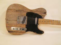 MGK Reclaimed Pine Barncaster Built with Fender Telecaster Parts | eBay