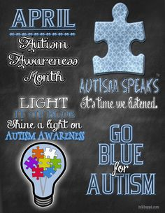 I also spent part of my day creating some graphic designs to help spread autism awareness. I am really excited to share these and hope my readers and those