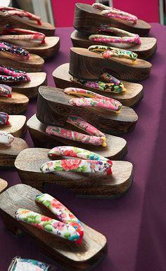 Japanese sandals, Geta - Kyoto, Japan