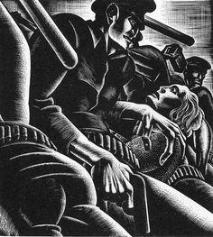 Wild Pilgrimage - Lynd Ward - Expressionism, 1932