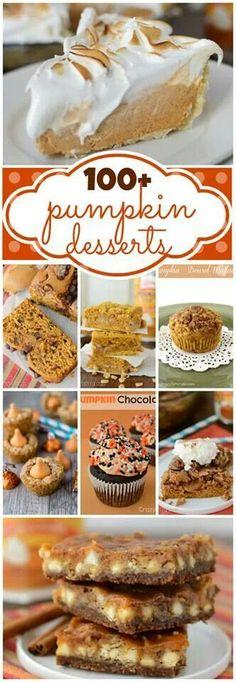 100 Pumpkin Dessert Recipes
