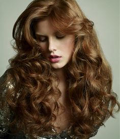 long red curly coloured hairstyle