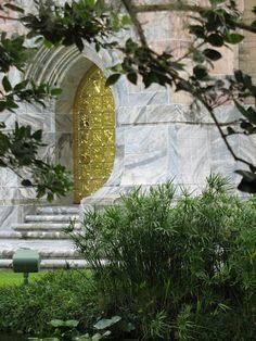 Beautiful gold door, depicting scenes of creation, Bok Tower, Lake Wales, FL