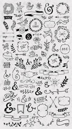 25 Easy Doodle Art Drawing Ideas For Your Bullet Journal – Brighter Craft Bullet Journal Headers, Bullet Journal Banner, Bullet Journal Notebook, Bullet Journal Ideas Pages, Bullet Journal Inspiration, Daily Journal, Bullet Journal Decoration, Hand Lettering Alphabet, Doodle Lettering