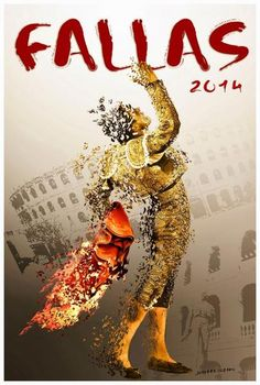 Cartel de toros de la Feria de Fallas 2014 | Fallas Valencia 2014 - I really wish I had a copy of this poster!