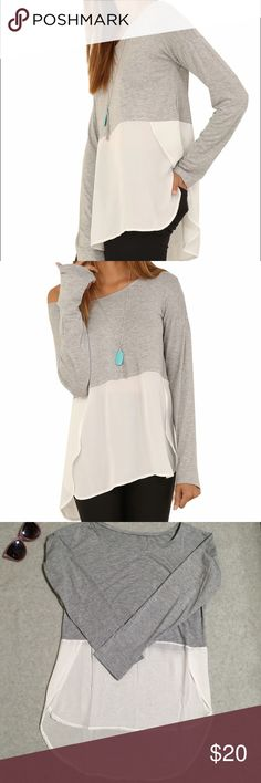 Hi Lo Split Side Top Very nice top can be as casual as you like it or dressed up for an date! Tops Tees - Long Sleeve