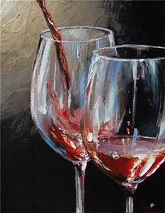 Kai Fine Art is an art website, shows painting and illustration works all over the world. Wine Painting, Painting & Drawing, Painting Inspiration, Art Inspo, Wine Art, Art Hoe, Art Drawings Sketches, Dark Drawings, Art Sketchbook
