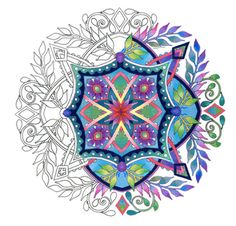 Flora Mandalas  dibujos para colorear para adultos por emerlyearts