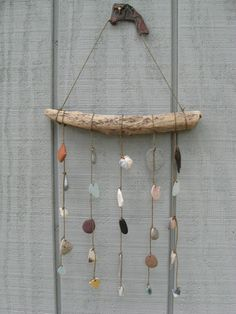 BEACH FIND MOBILE Beach Glass Mobile Sea by lakehousetreasury, $55.00