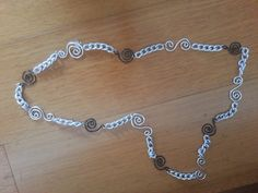 Wire and chain necklace