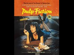 """3D movie poster: """"Pulp Fiction"""":   As the title implies it's the Pulp Fiction movie poster in fake 3D. Made with Moho Pro 12."""