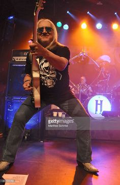 Mick Box of Uriah Heep performs on stage at Szene Wien on March 24, 2016 in Vienna, Austria.