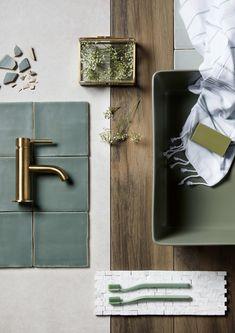 Small bathtub: inspiring models and photos - Home Fashion Trend Mood Board Interior, Interior Design Boards, Small Bathtub, Small Bathroom, Eduardo E Monica, Material Board, Colour Schemes, Bathroom Interior, Colorful Interiors