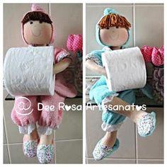Dee Rosa Artesanatos!: Boneca porta-papel higiênico sem arame com molde d...