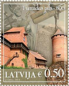 Sello: Turaida Castle - 800 (Letonia)