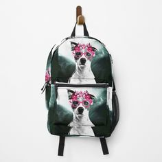 Flower Crown, Pink Flowers, Chiffon Tops, My Arts, Girly, Backpacks, Art Prints, Printed, Awesome