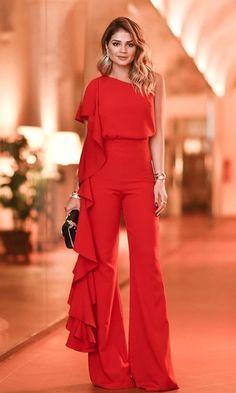Sexy Off-Shoulder Broad Leg Pure Colour Jumpsuits Older Women Fashion, Womens Fashion, Jumpsuit Elegante, Dress To Impress, Lady, Bodycon Dress, Bridesmaid Dresses, Fashion Outfits, Fasion