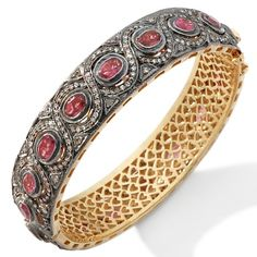 Rarities: Pink Tourmaline and White Diamond Bangle. Isn't this gorgeous?