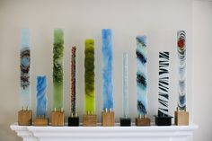 Stephen Hall Glass - Kiln fused glass sculptures