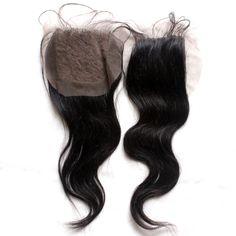 """6A & 7A 100% virgin human hair natural straight closure.  Indian, Malaysian, Brazilian, Peruvian, Mongolian, Chinese, Russian, Filipino, Eurasian, Cambodian, European, Burmese and Bohemian.  Swiss Lace.   4"""" x 4""""."""
