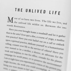 The unlived life. #thewarofart #stevenpressfield #writing #creativity #life #books #reading