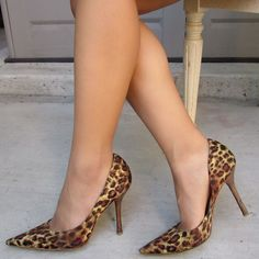 60c25a348b GUESS Carrie Leopard Print Pointy Toe Stiletto Heels Pumps #GUESS #Stilettos  #Casual Leopard