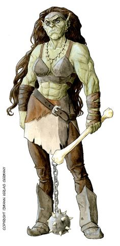 Great-Orc female color low by LucaErbetta