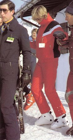 January 13, 1983:  Prince Charles & Princess Diana being harrassed by the press causing Princess Diana to become sullen during their  skiing holiday in Lech, Austria.