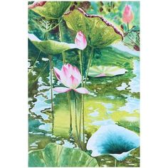 NOVICA Watercolor Painting from Thailand ($318) ❤ liked on Polyvore featuring home, home decor, wall art, backgrounds, green, paintings, realist paintings, green wall art, sunrise painting and lake home decor