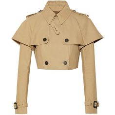 Burberry Prorsum Cropped cotton-gabardine jacket found on Polyvore