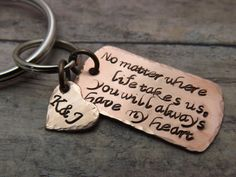 customized copper dog tag keychain - just ordered one for a Christmas gift for my bf!