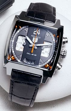 My buddy M Dayton Owens and I have similar tastes in style. Cool watch~Steel Monaco 24 chronograph by TAG Heuer***
