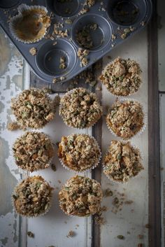 Wholesome Carrot, Apple + oatmeal Muffin www.thehealthychef.com
