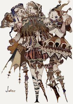 A Arte de Akiya Kageichi - Design Innova Art And Illustration, Character Illustration, Arte Inspo, Kunst Inspo, Fantasy Kunst, Fantasy Art, Art Du Cirque, Pierrot Clown, Arte Obscura