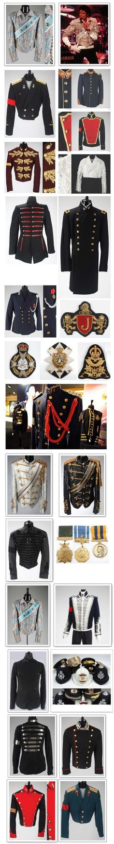Michael Jackson's military jackets. MJ has forever left his stamp on fashion and he will always be remembered.