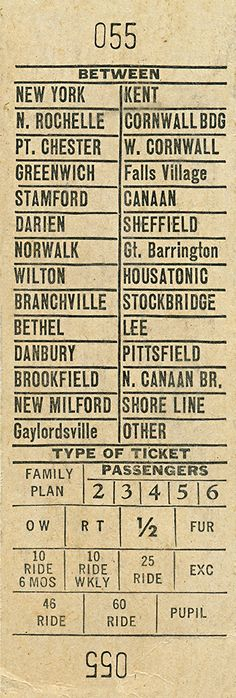 Ski Train Ticket from NYC to Berkshires Antique Ticket Framed Ephemera — MUSEUM OUTLETS