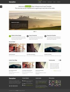 Ways To Say Hello, Responsive Layout, Drupal, The Visitors, Clean Design