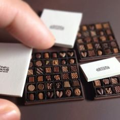 Tiny chocolates.