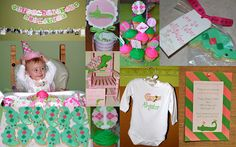 pink & green alligator party