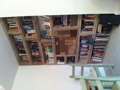 Scaffold board bookcase