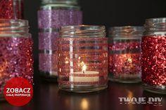 Brokatowe świeczniki  zobacz jak je zrobić krok po kroku