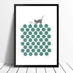 how to buy art online. Buying art. Displaying art. Cat print.