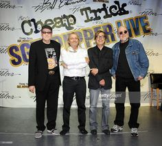 Rick Nielsen, Robin Zander, Tom Petersson and Bun E. Carlos attend a press conference announcing the new ''Sgt. Pepper Live'' show featuring Cheap Trick at Hilton Hotel And Casino Resort on June 11, 2009 in Las Vegas, Nevada.