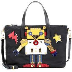 Prada Robot Appliqué Shoulder Bag | MYTHERESA saved by #ShoppingIS